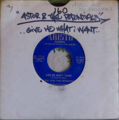 "Astor & The Potentials - Give Me What I Want (7"") Label: Aristo Cat#: AR-105 Disco(-Funk), USA, 1975 RYM / Discogs Note: Killer disco-funk."