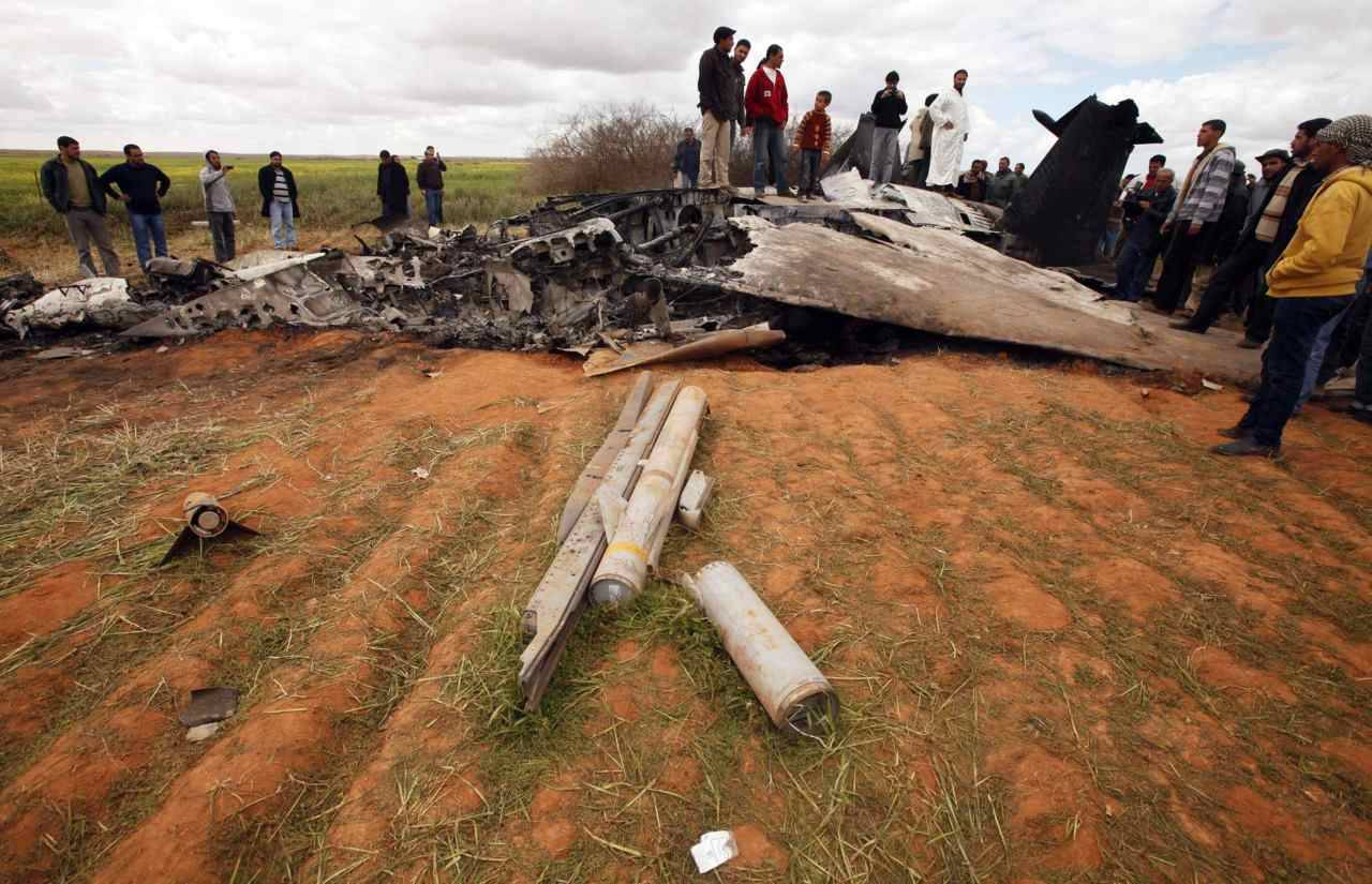 Gaddafi attacks rebel towns, U.S. plane down In the first apparent air force casualty of the campaign, a U.S. F-15E crashed in Libya overnight and its two crew members were rescued, the U.S. military said. The crash was likely caused by mechanical failure and not hostile fire, it said. (Suhaib Salem/Reuters)Coalition forces: Why Libya? International forces launched military action in Libya, but in Bahrain and Yemen — where 50 protesters were shot dead by pro-government snipers — the allies have offered nothing more than the verbal equivalent of a slap on the wrist.