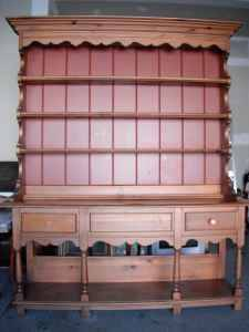 Two Piece Hutch. I'm picturing it painted black with natural inside. Beautiful in a dining room. $120