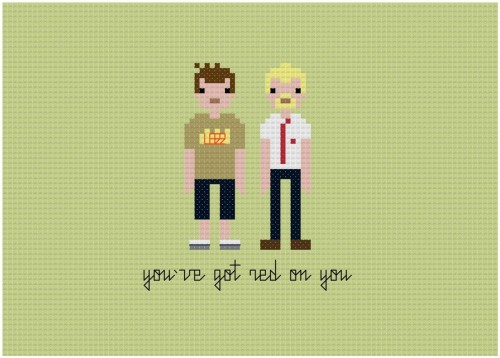 destroyallpixels:  Geeky Cross Stitch Patterns Hit up the source for a bunch more patterns and get stitching!