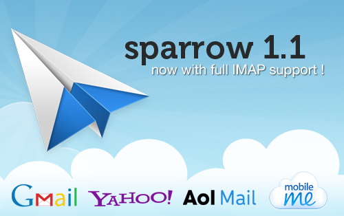 Minimally awesome mail client just got a lot better! sparrowmail:  Sparrow 1.1 is now available on the Mac App Store