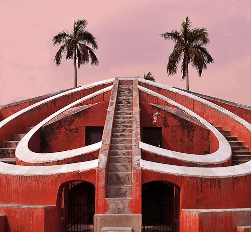 worldheritagesites:  Curved Stairs at Dusk, Jantar Mantar - India