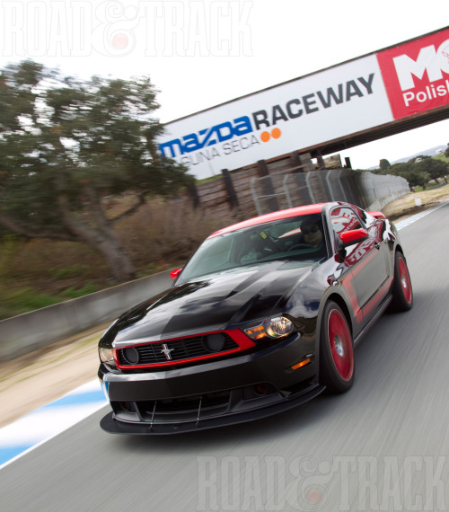 The Boss 302 is the best-handling production Mustang ever, but the most impressive thing about it was its durability—it lapped Laguna Seca for two straight days. Most other production cars wouldn't have lasted five laps. Its lap time of 1:39.5 sec. should make Porsche 911 GT3 and Nissan GT-R drivers take notice.