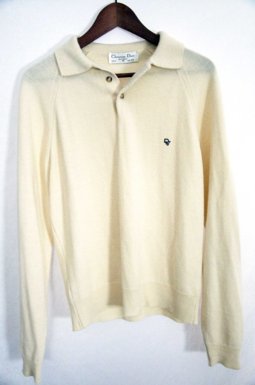 whereisthecoool:  Christian Dior Knitted Long Sleeve Polo Available in the WHERE IS THE COOL? online store. One of a kind vintage cool.