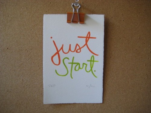 just start.{via etsy}