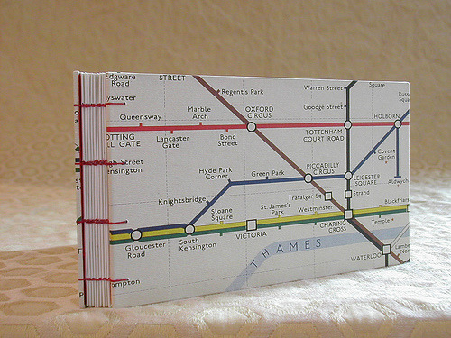 prettybooks:  London Underground Travel Journal (by kristin82175)
