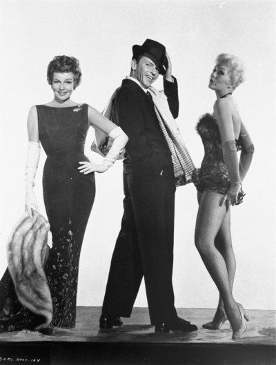 "Pal Joey, with Frank Sinatra and Kim Novak. At the time Pal Joey was filmed (ca 1956/57), Kim Novak was on her way up as Columbia's ""new"" Love Goddess, so people wondered whether there would be any hostility between her and Rita on the set. There weren't, however, any bad feelings from either side, and Kim Novak later said: ""She [Rita] was always charming and gracious."""