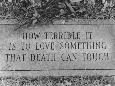 How terrible it is to love something that death can touch artist unknown …