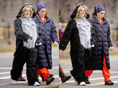 the-girlieshow:  Filming on location in New YorkMarch 22, 2011