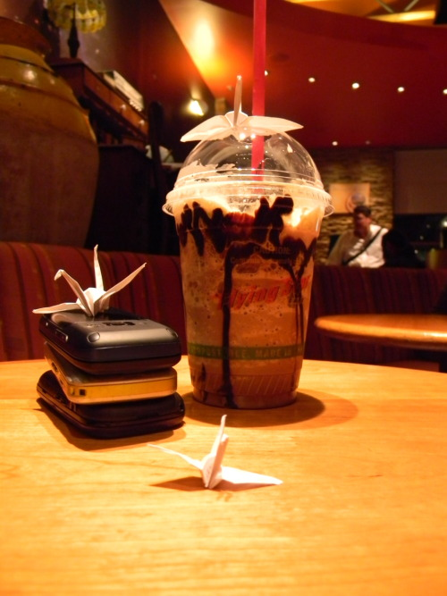 dontflysohigh:  Coffee and origami cranes. What more do you want in life?