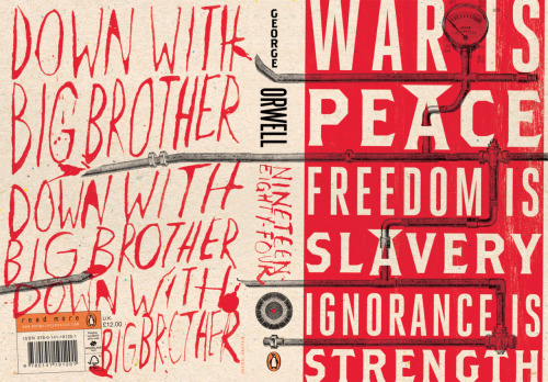 Brilliant cover art fernandofrench:  Orwell's Nineteen Eighty-Four