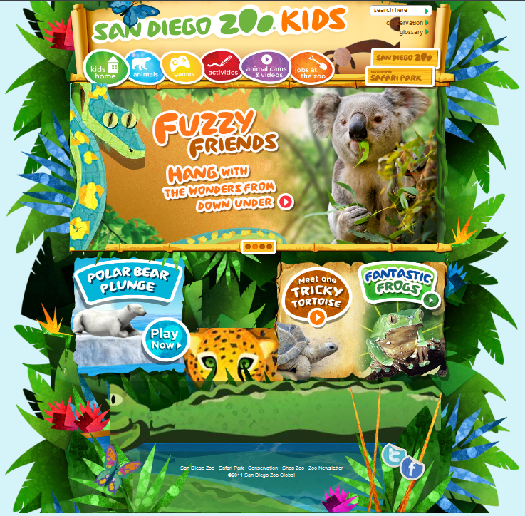 San Diego Zoo Kids is an amazingly beautiful interactive site for kids. They can watch videos, play games, access animal webcams, learn about zoo jobs, and even get instructions for a craft or two. If your class is studying animals I highly recommend this site.  I have added this to my Amazing Animals for Kids Binder. You may also like… Your Zoo View A+++++