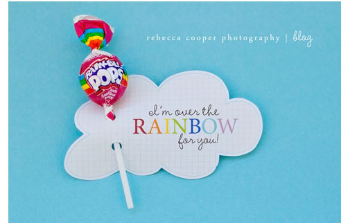 Free over the rainbow printable