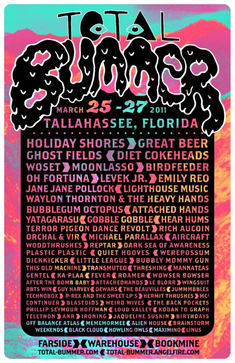 TRANSMUTEO IS PLAYING TOTAL BUMMER 2.0!!!March 25th - 27th. 3 DAYS 76 BANDS! More information here and here.