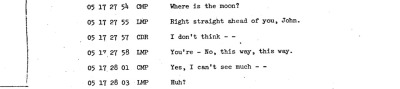 distractionsinspace:  Where is the moon? Apollo 10 audio transcript
