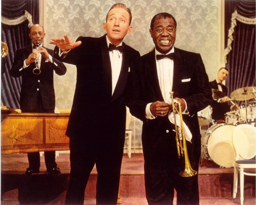 Bing Crosy and Louis Armstrong in High Society (1956)