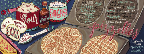 So neat: They Draw and Cook. Recipes illustrated by artists around the world.