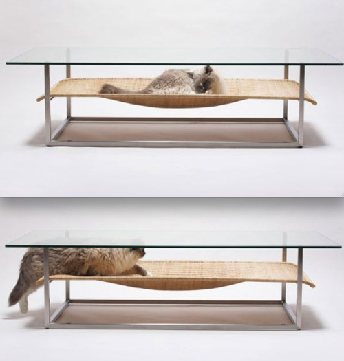 getoutoftherecat:  archiphile:  furniture: a table for you and a bed for your cat displayed on archiphile | facebook | twitter  i need this.
