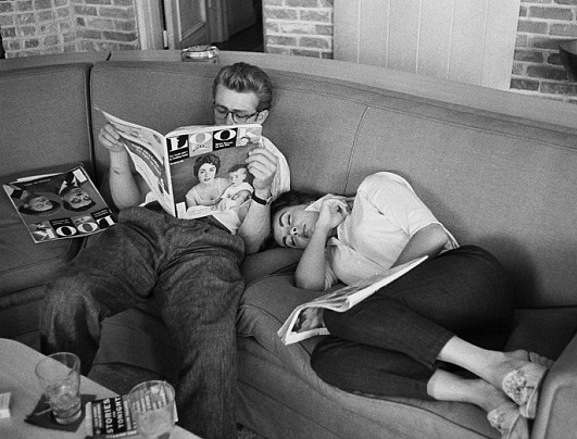 James Dean & Elizabeth Taylor (taken around the shooting of Giant, I'm assuming)