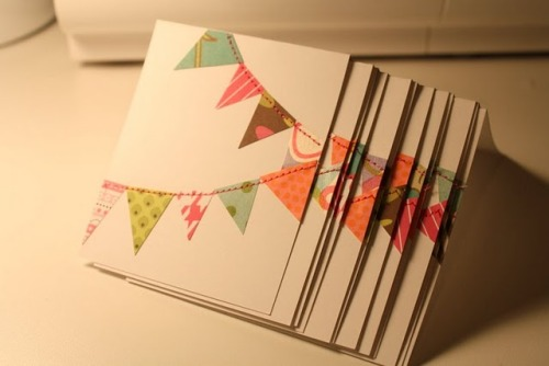 I saw this adorable card idea over on The Pleated Poppy's blog and it put me in the card making mood! Especially because they are so simple and easy!  Head on over and see directions for the card and cute envelopes and get to crafting!