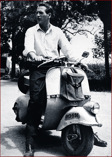 Vip with a Vespa: Paul Newman