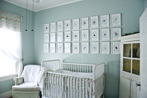homedesigning:  (via House of Turquoise: The Farmer Nursery)