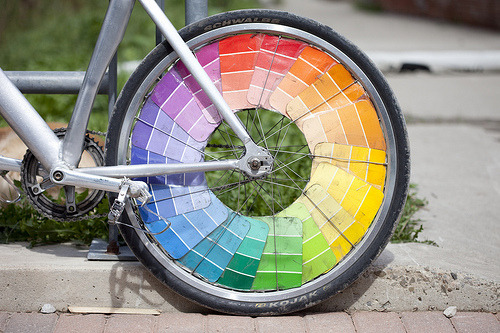 Urban trends: biking, eco-move;) NY bike colorfully!