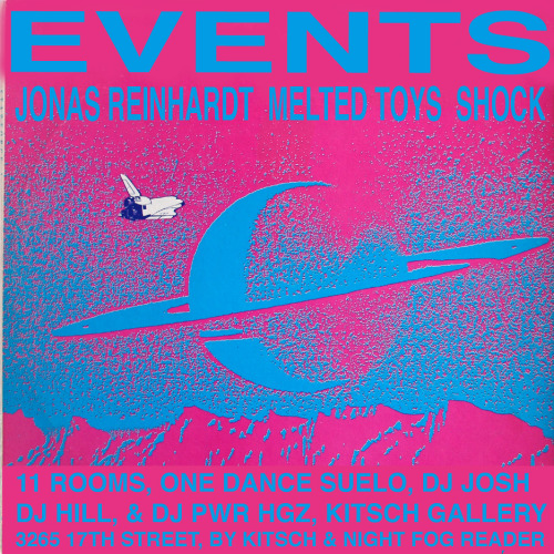 On 4/2/2011 KITSCH GALLERY & NIGHT FOG READER PRESENT an emergence of sounds with Jonas Reinhardt (LIVE) (Kranky/NotNotFun)Melted Toys (LIVE) (Underwater Peoples) Shock (LIVE) W/ DJ JOSH, DJ HILL, & DJ PWR HGZ (of BOYZ IV MEN).Kitsch Gallery, 3265 17th Street (at Capp) SF, CA -Pedro .