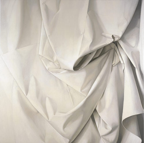 Alison Watt: Sabine 2000. Oil on canvas, 213.50 x 213.50 cm