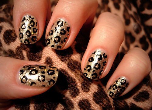 Check out this video tutorial for safari themed nails -  included with the leopard print nails, are also  tiger, zebra, giraffe and I think a cow print as well!  (via we heart it)