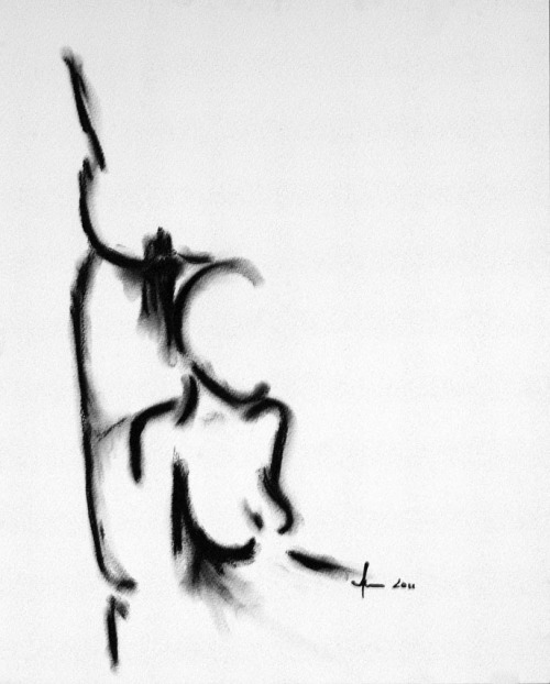 Un-spoken Charcoal on Paper, AnnCT 2011