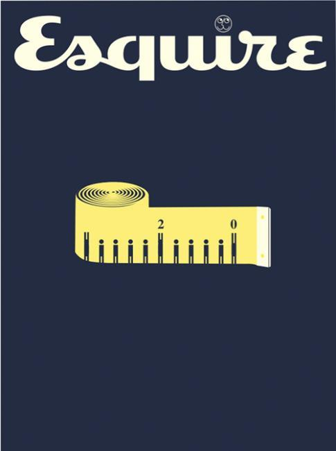 Esquire cover celebrating Esquire UK's 20th anniversary, via Cover Junkie.