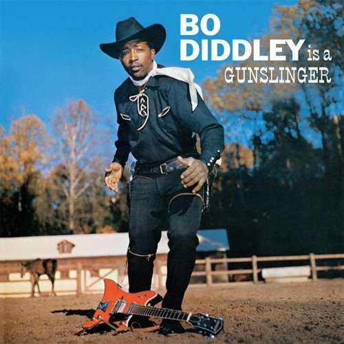 "jugtownradio:  On November 20, 1955, Bo Diddley appeared on The Ed Sullivan Show.  The show had requested that Diddley sing the Merle Travis-penned Tennessee Ernie Ford hit ""Sixteen Tons"" but when he appeared on stage, he sang ""Bo Diddley"" instead. This substitution resulted in his being banned from further appearances. ""I did two songs and Ed Sullivan got mad,"" Diddley later recalled. ""He said that I was one of the first colored boys to ever double-cross him. Said that I wouldn't last six months."""