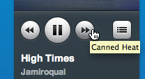Wow, I never noticed this before. Nice touch. littlebigdetails:  Rdio - When you mouse over the forward/back buttons on the Rdio player, it tells you what track is coming up next in the playlist/album. /via niczak