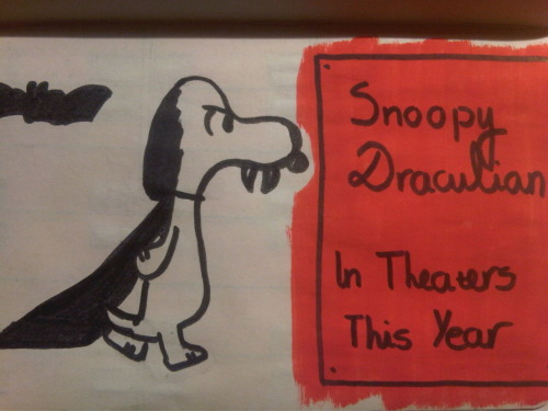Watching Christopher Lee movies and reading Snoopy,inspired me to do this one