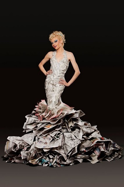 teachingliteracy:  newspaper gown.