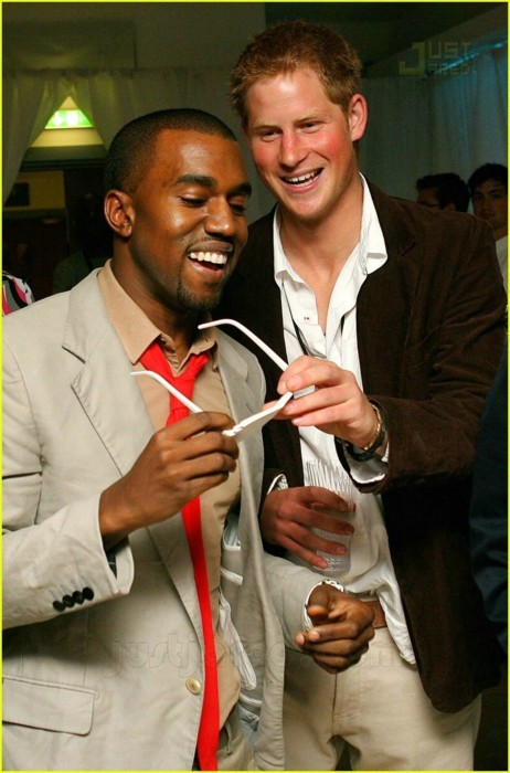 awesomepeoplehangingouttogether:  Kanye West & Prince Harry