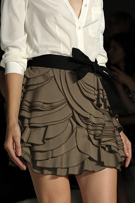 I love the layering and detail in this skirt from DKNY Spring 2011 RTW