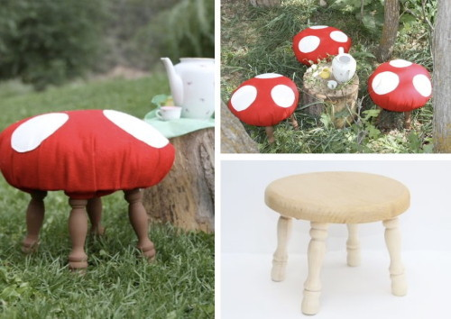 When I have a house I am gonna make mushroom stools.