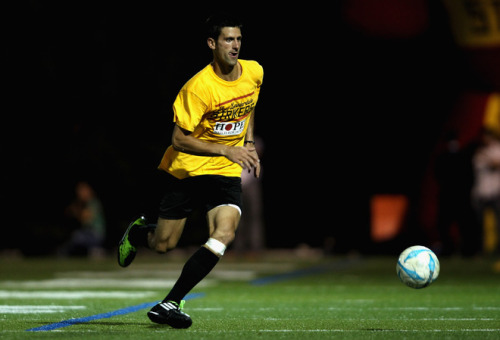 Novak playing the footy. FOR JAPAN! Source : Yahoo! Sports