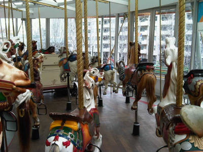 Zeum Carousel ride at Yerba Buena Gardens in San Francisco. taken by me.