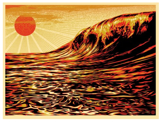SHEPARD FAIREY BENEFIT PRINT FOR JAPAN Pretty self explanatory. 60 bucks. Available today at: http://obeygiant.com/store/home.php?cat=1 Benefits Japanese Red Cross http://www.jrc.or.jp/english/relief/l4/Vcms4_00002070.html