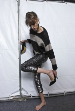 veronicalovesarchie:  freja in sequins and stripes for isabel marant. (yep, that could possibly be my favourite sentence that i've ever typed out on this blog) if only she was wearing a neon friendship band…  i totally agree with you v!