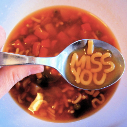 I opened up a can of alphabet soup and took this photo years ago.   It still applies.