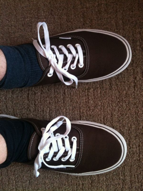 Me and my new brown vans are off to enjoy the sunshine.