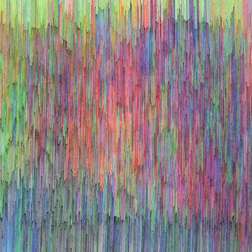 rerylikes:  Joan Saló - Untitled. Pen on canvas, 150x150 cm (2009)  [via ordovicianfauna]