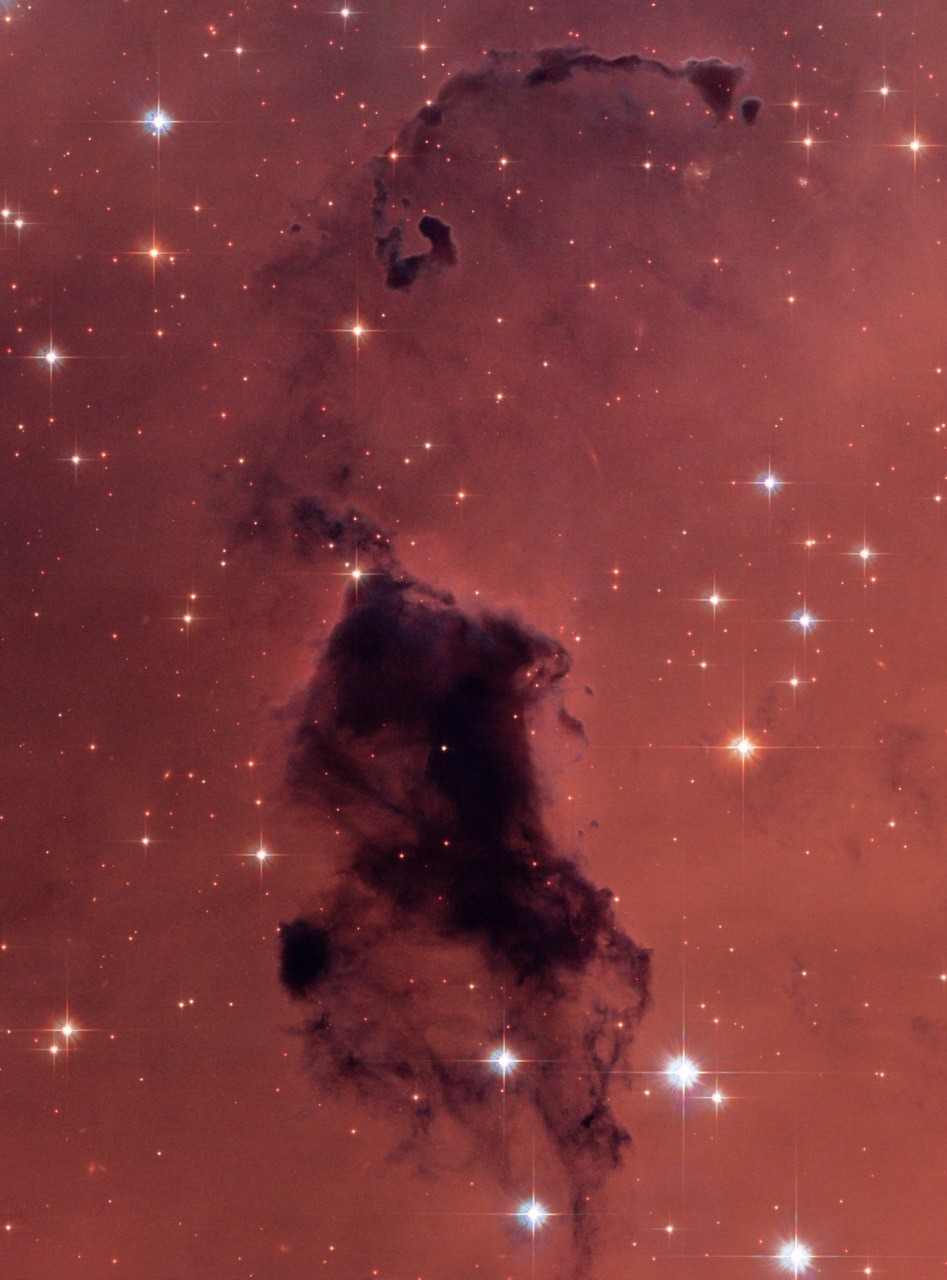 invaderxan:  Bok Globules in the Pac Man nebula