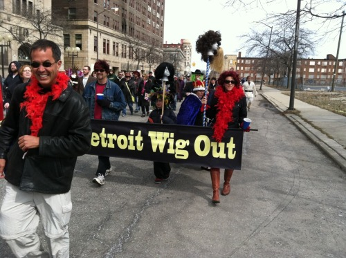 We had a blast along the Cass Corridor expelling the red dwarf from Detroit during the Marche du Nain Rouge!