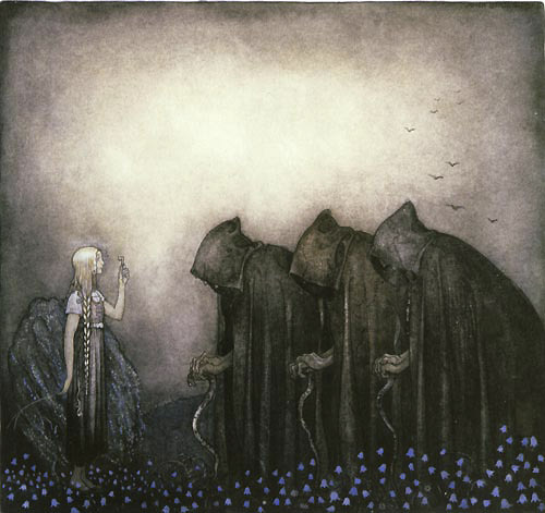 John Bauer's illustration for W.E. Bjork's The Golden Key Source: tatteredbanners