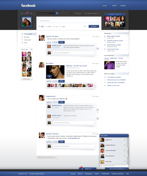 Facebook Redesign by *jonaska